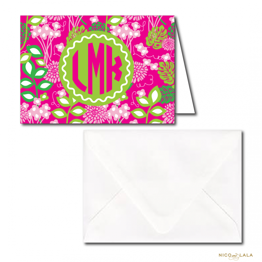 Lilly Pulitzer Themed Stationery