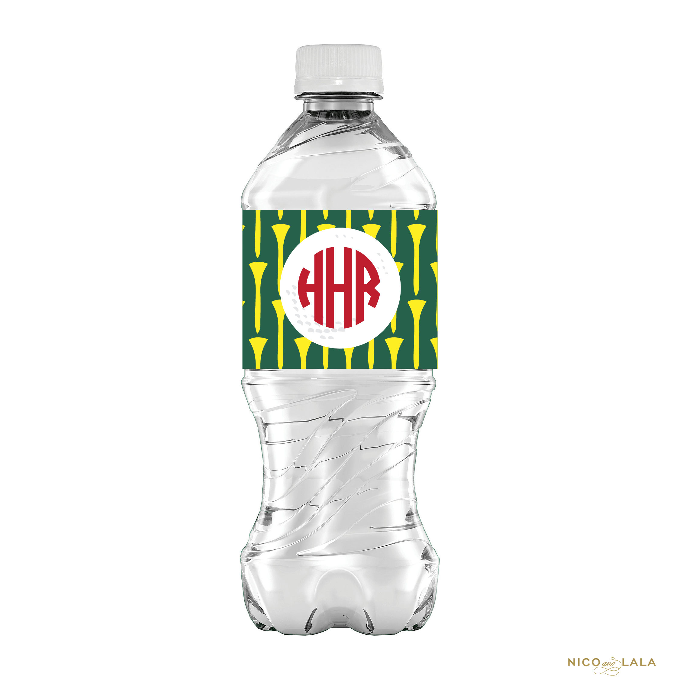 Masters Birthday water bottle labels