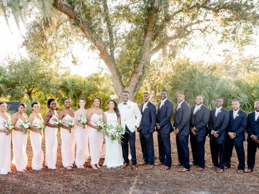 Blush and Navy Charleston Wedding