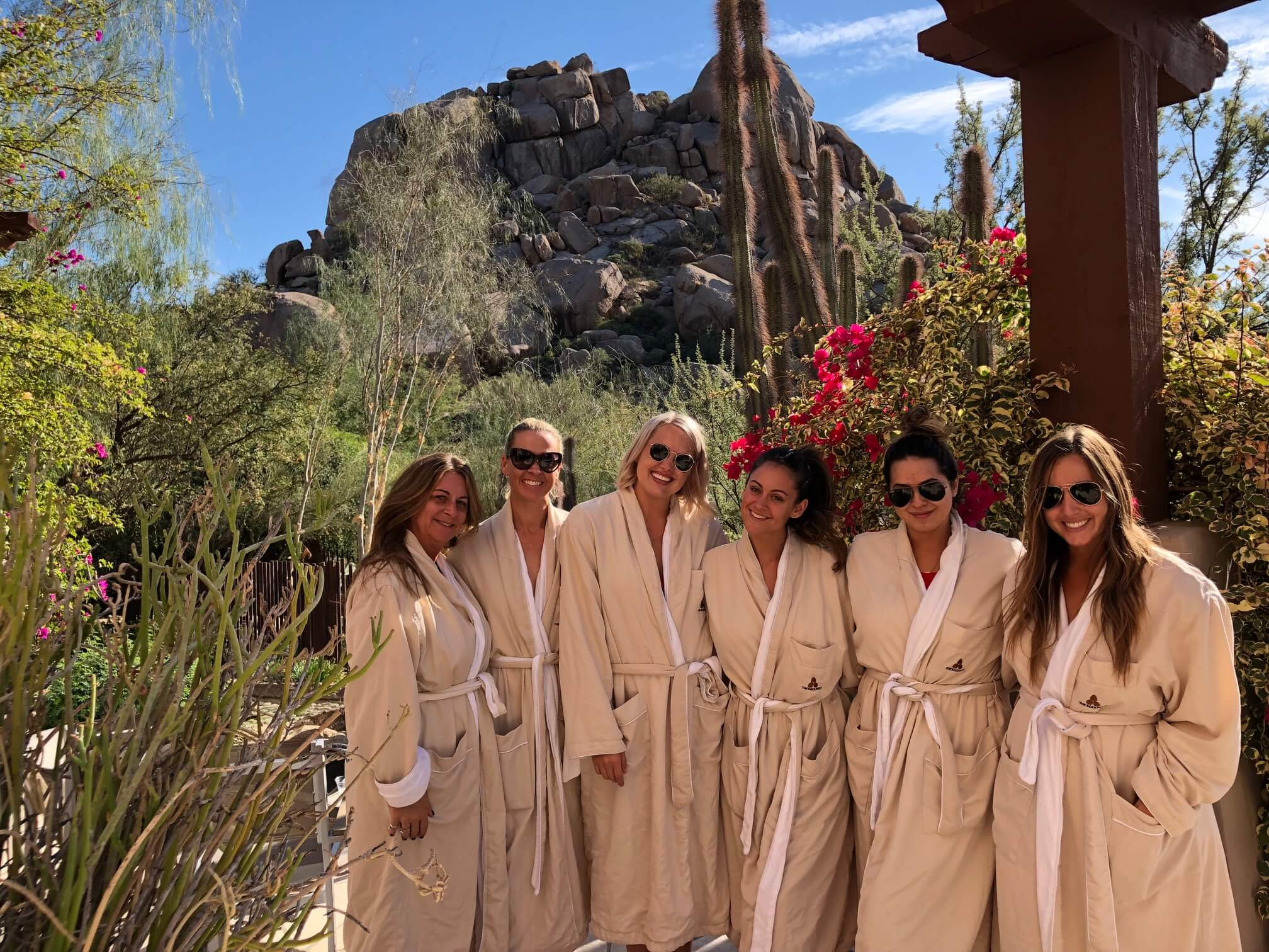Spa day at Scottsdale bachelorette party