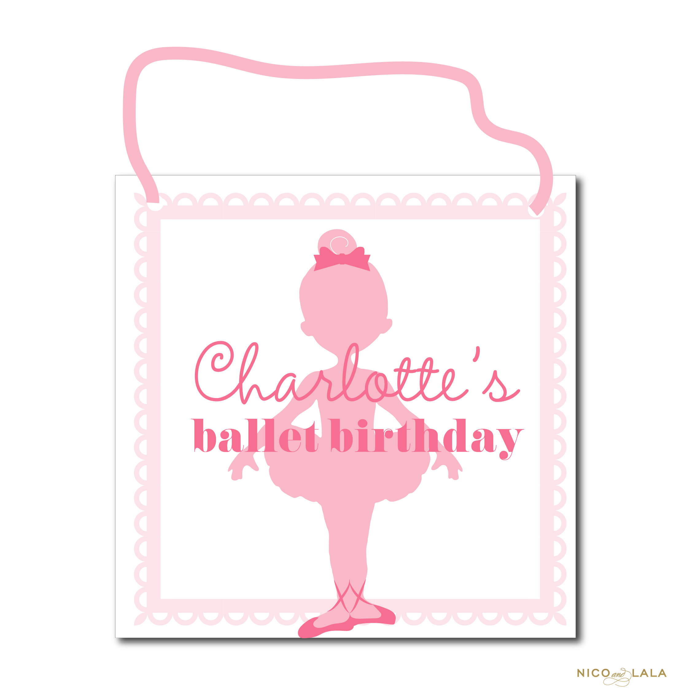 ballet birthday door sign