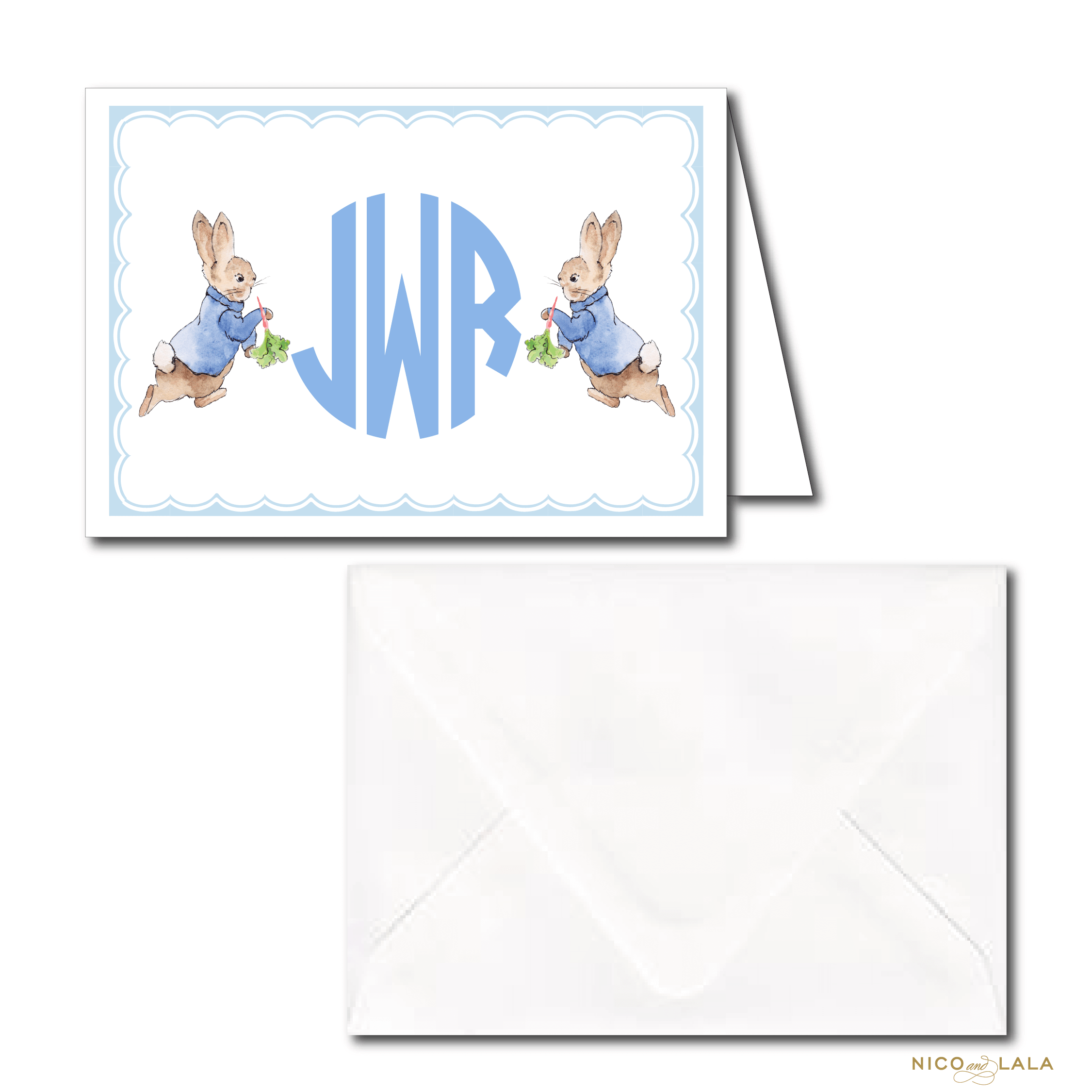 Monogrammed Peter Rabbit Stationery