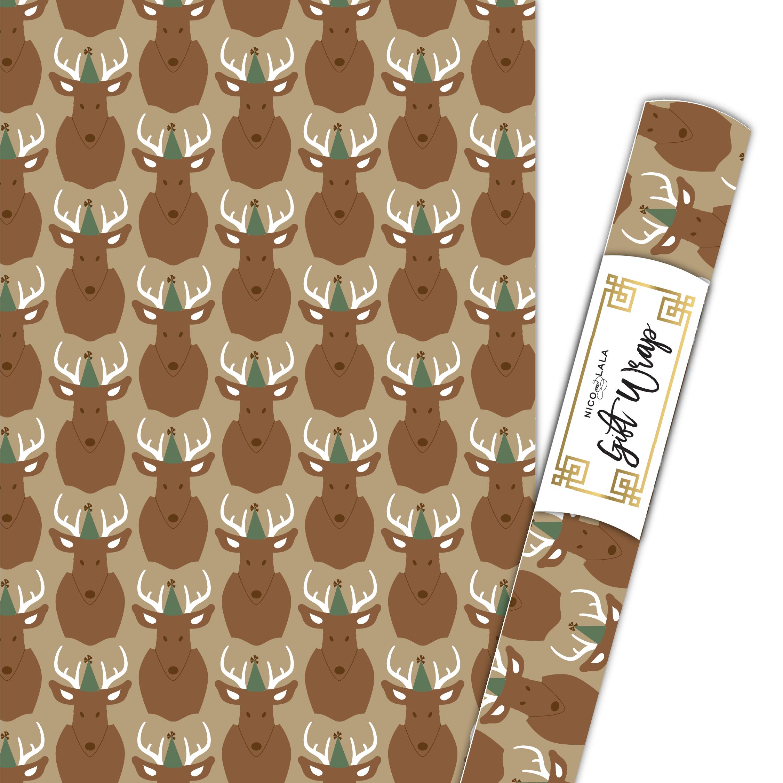 camo deer gift wrap