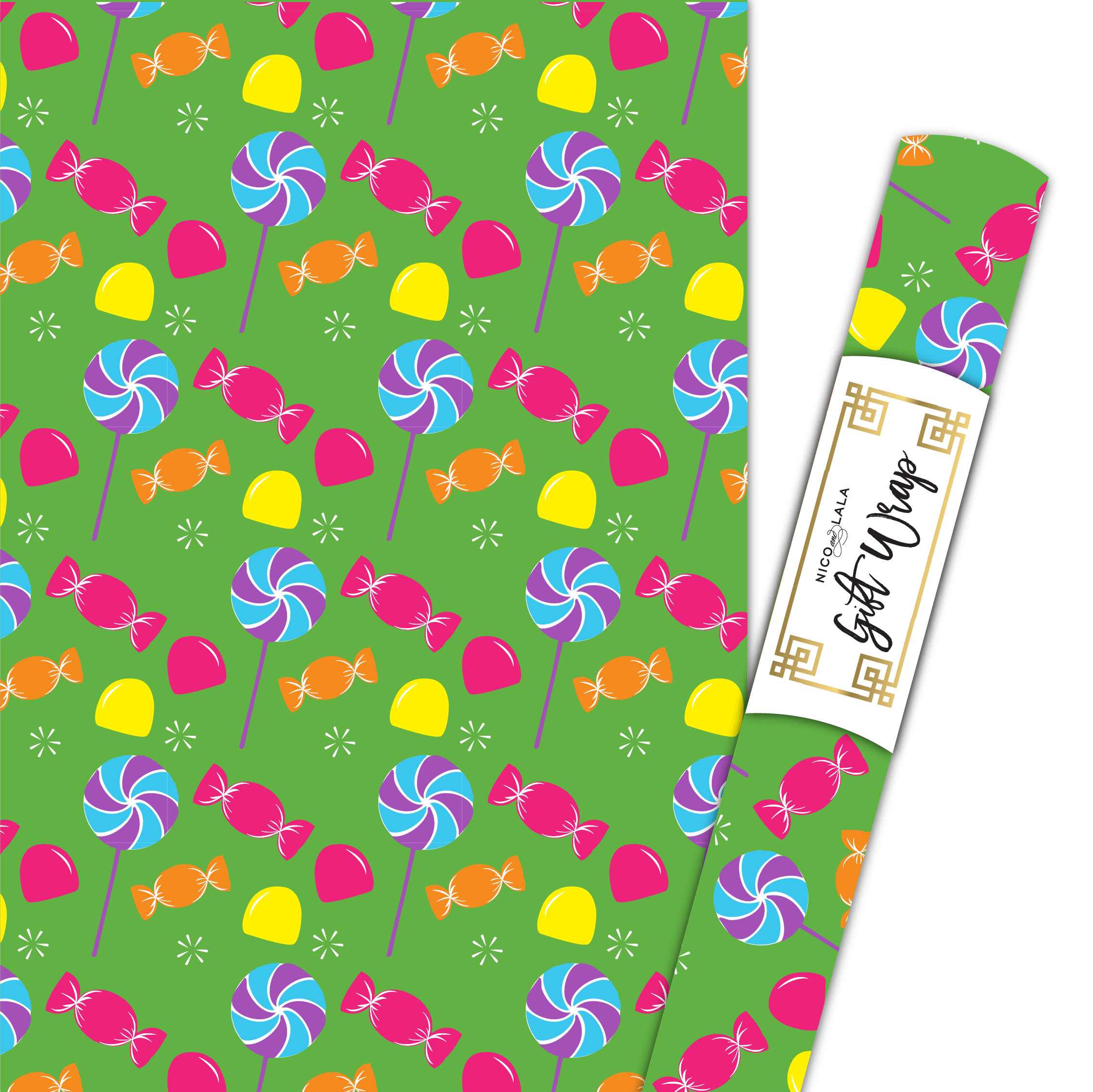 Candyland Gift Wrap