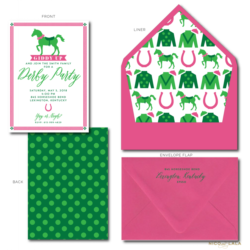 derby party invitations
