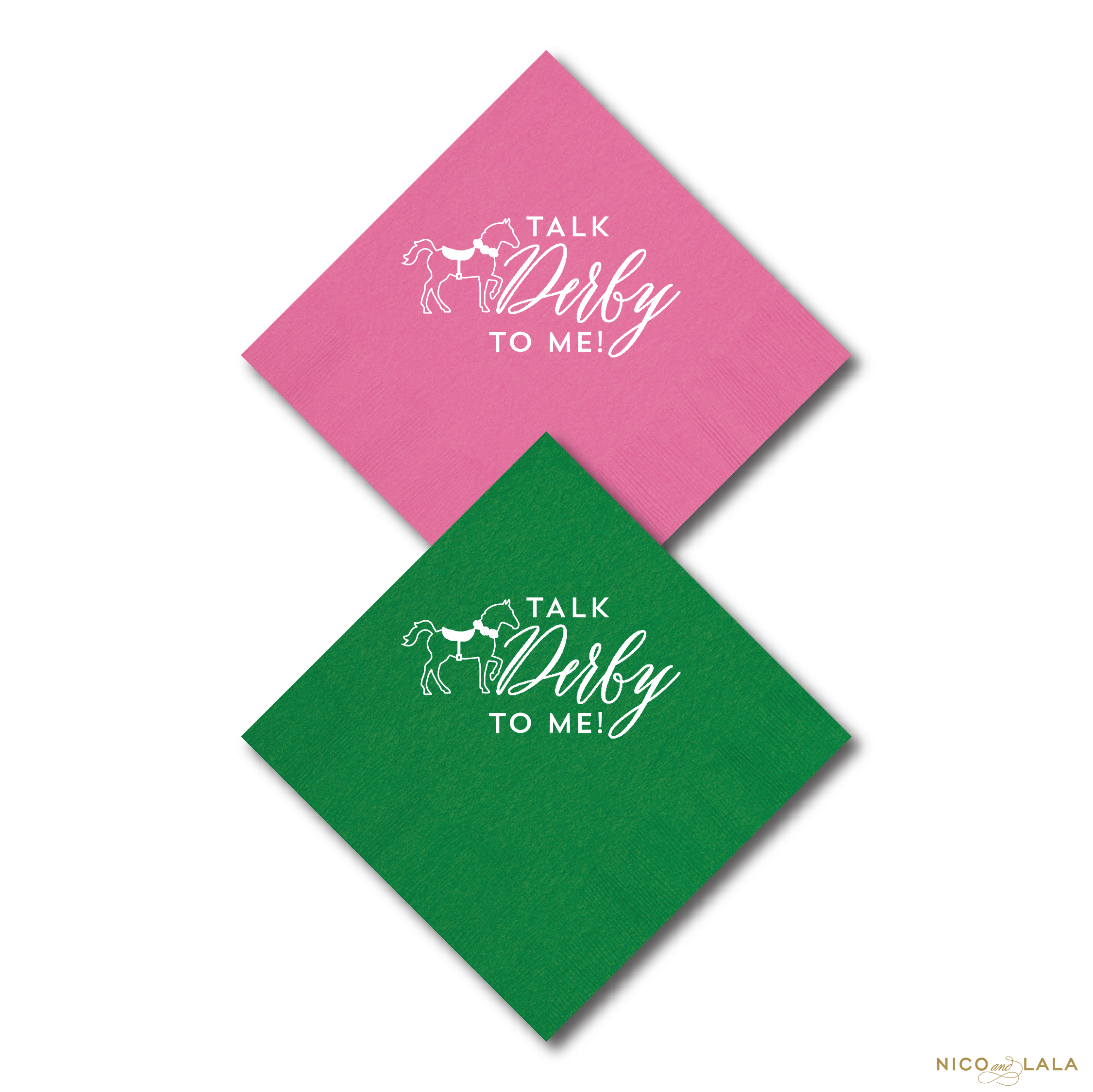 derby party napkins