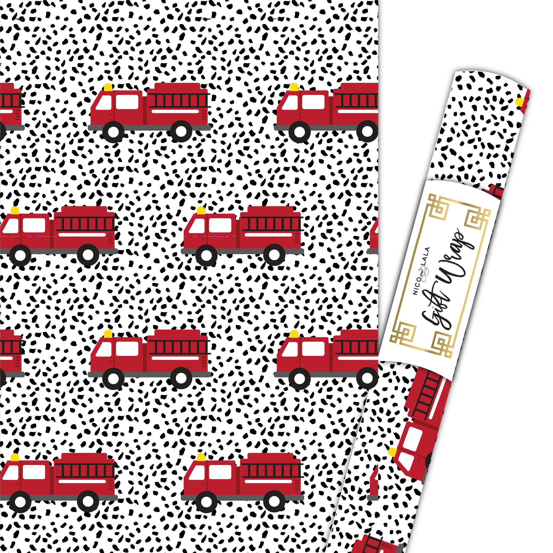 Fire Truck Gift Wrap