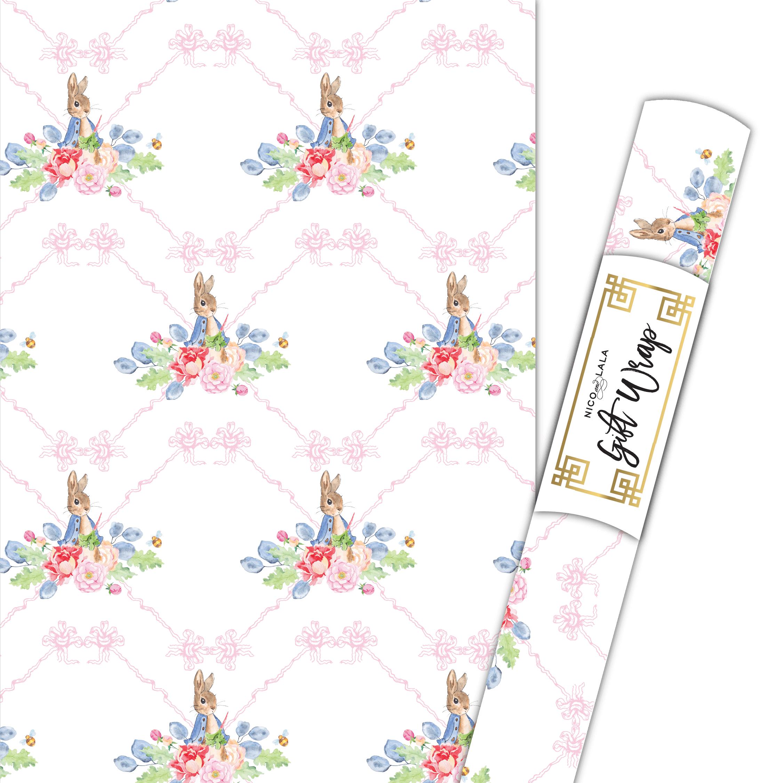 Girl Peter Rabbit Gift Wrap