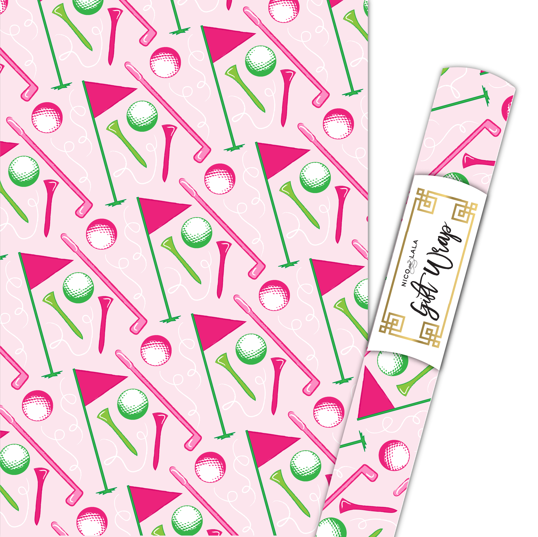 Girly Golf Gift Wrap