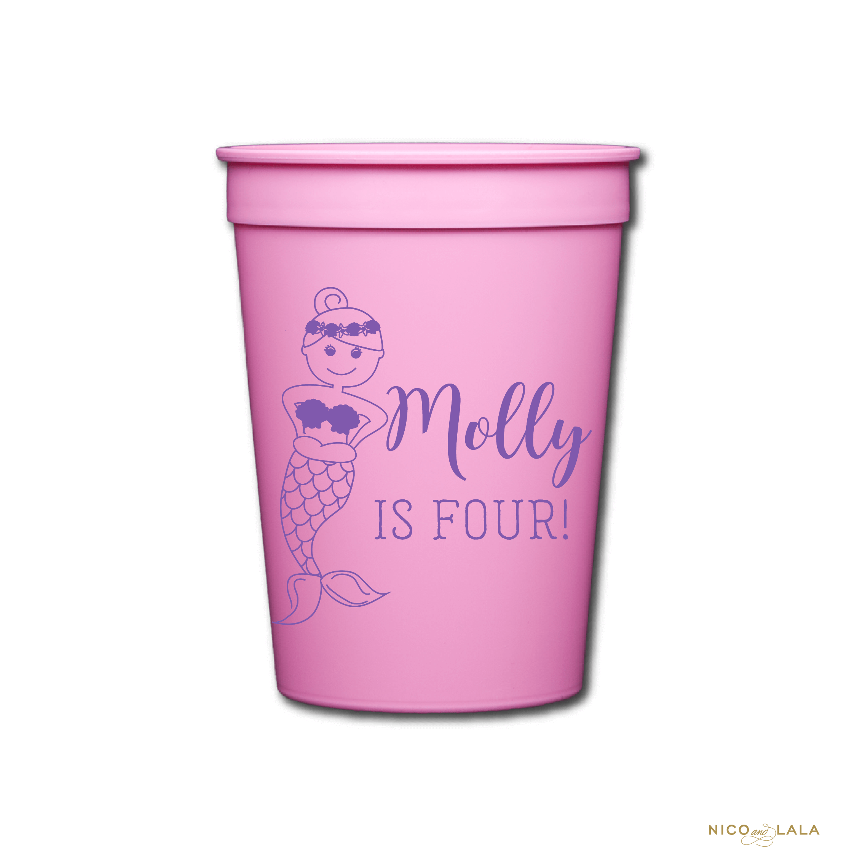 Mermaid Birthday Cups