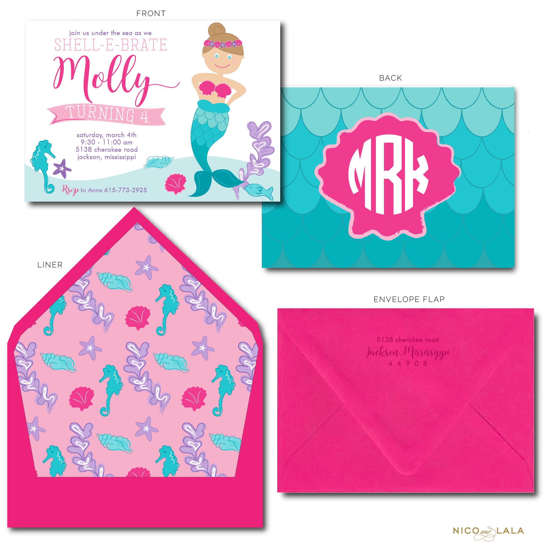 Mermaid Birthday Invitations Nico And Lala