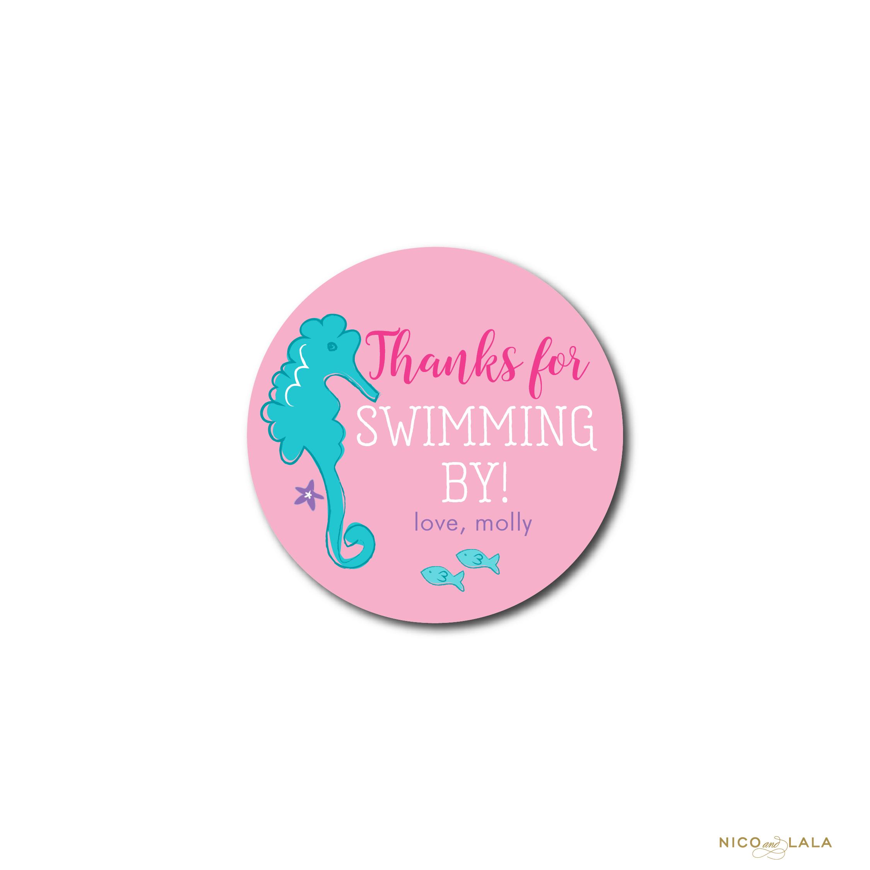 Mermaid Birthday Stickers