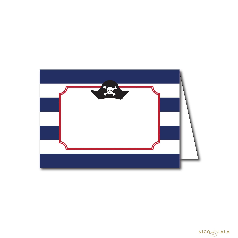 Pirate Birthday Food Cards