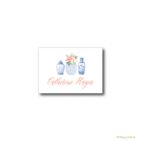 Floral Ginger Jar Enclosure Cards