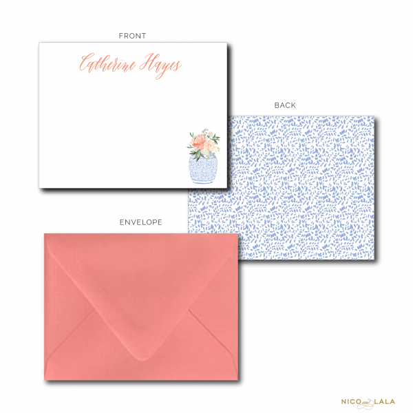 Floral Ginger Jar Stationery