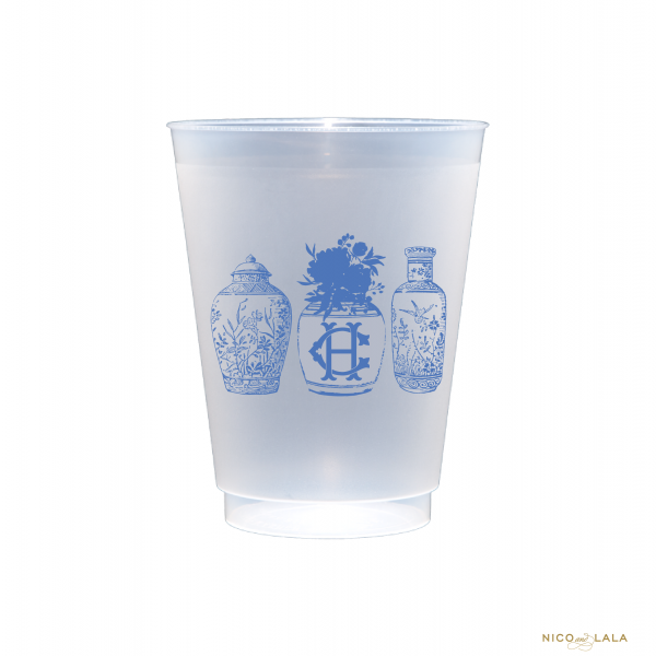 Ginger Jar Shatterproof Cups with monogram