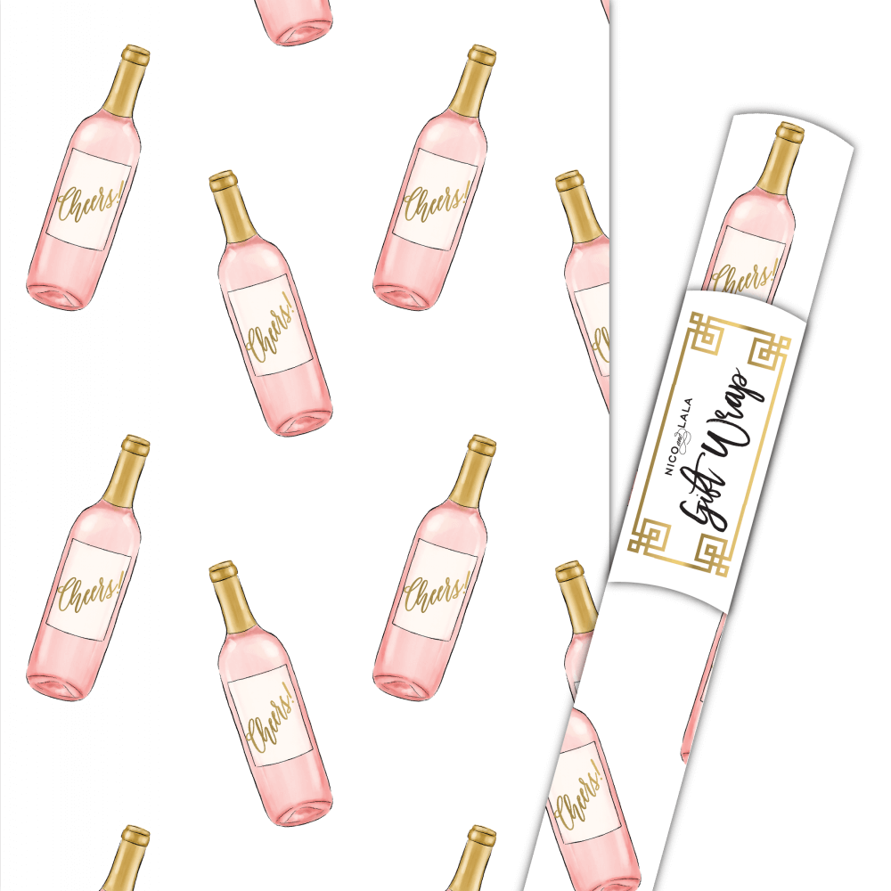 Rosé wrapping paper