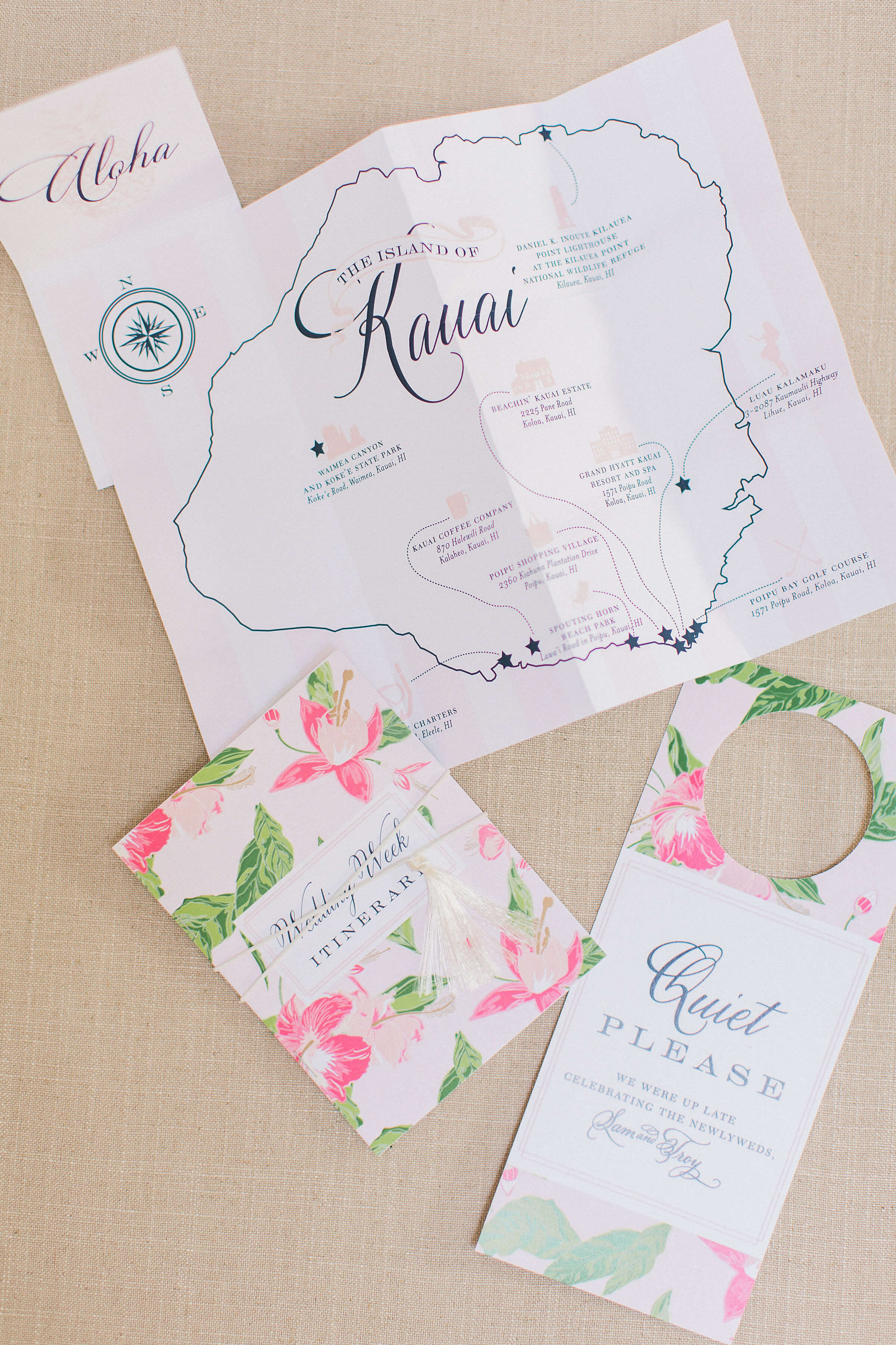 Hawaii Wedding Map of Kauai