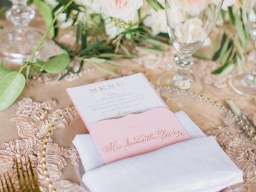 Blush and Gold Hawaiian Wedding