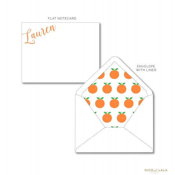Tennessee Vols Stationery set w orange lined envelope