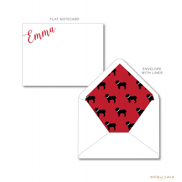 Georgia Bulldog Stationery