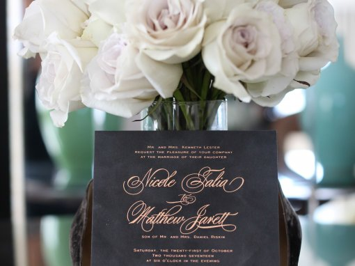 Grey and Rose Gold Chicago Wedding
