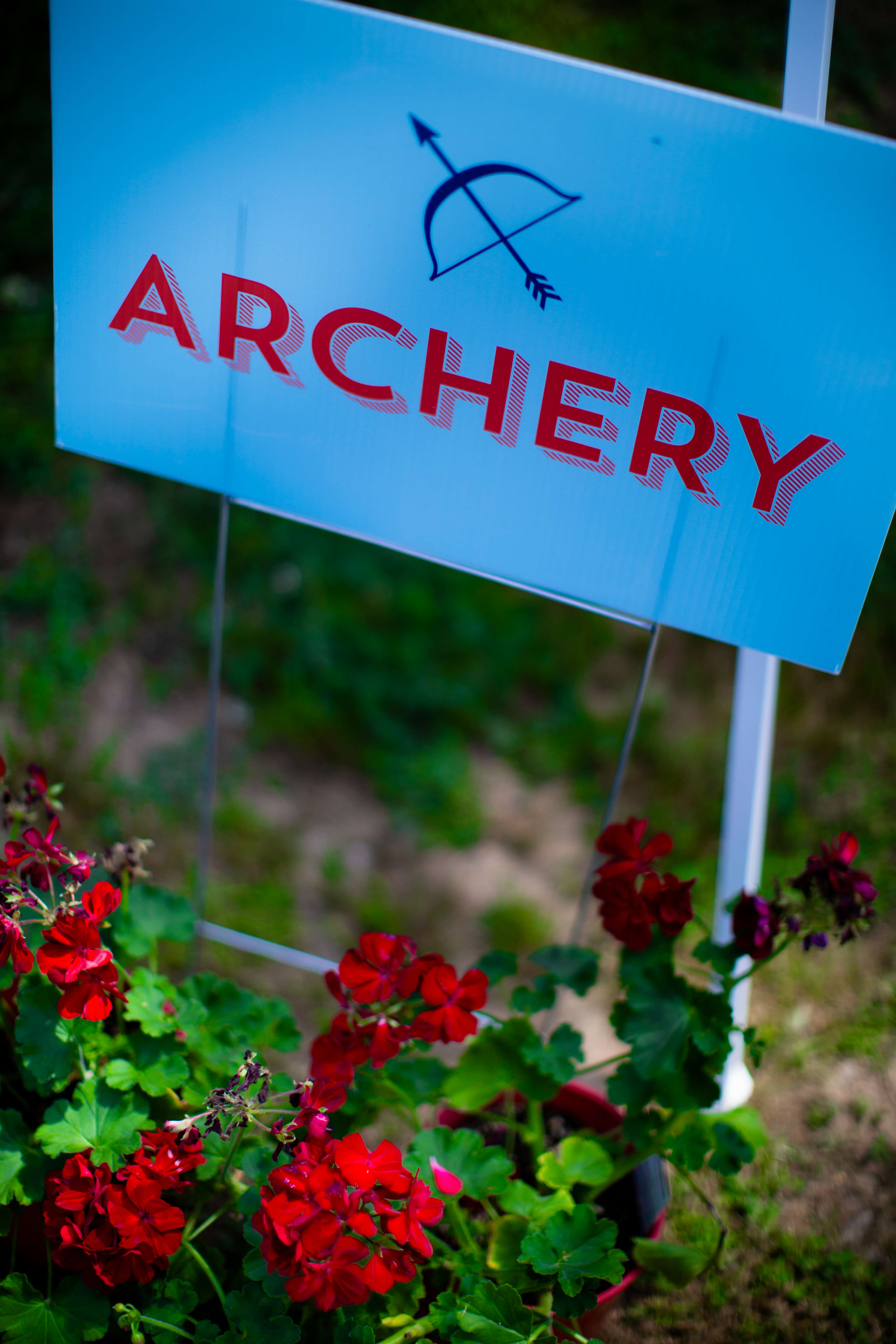 archery signage camping birthday