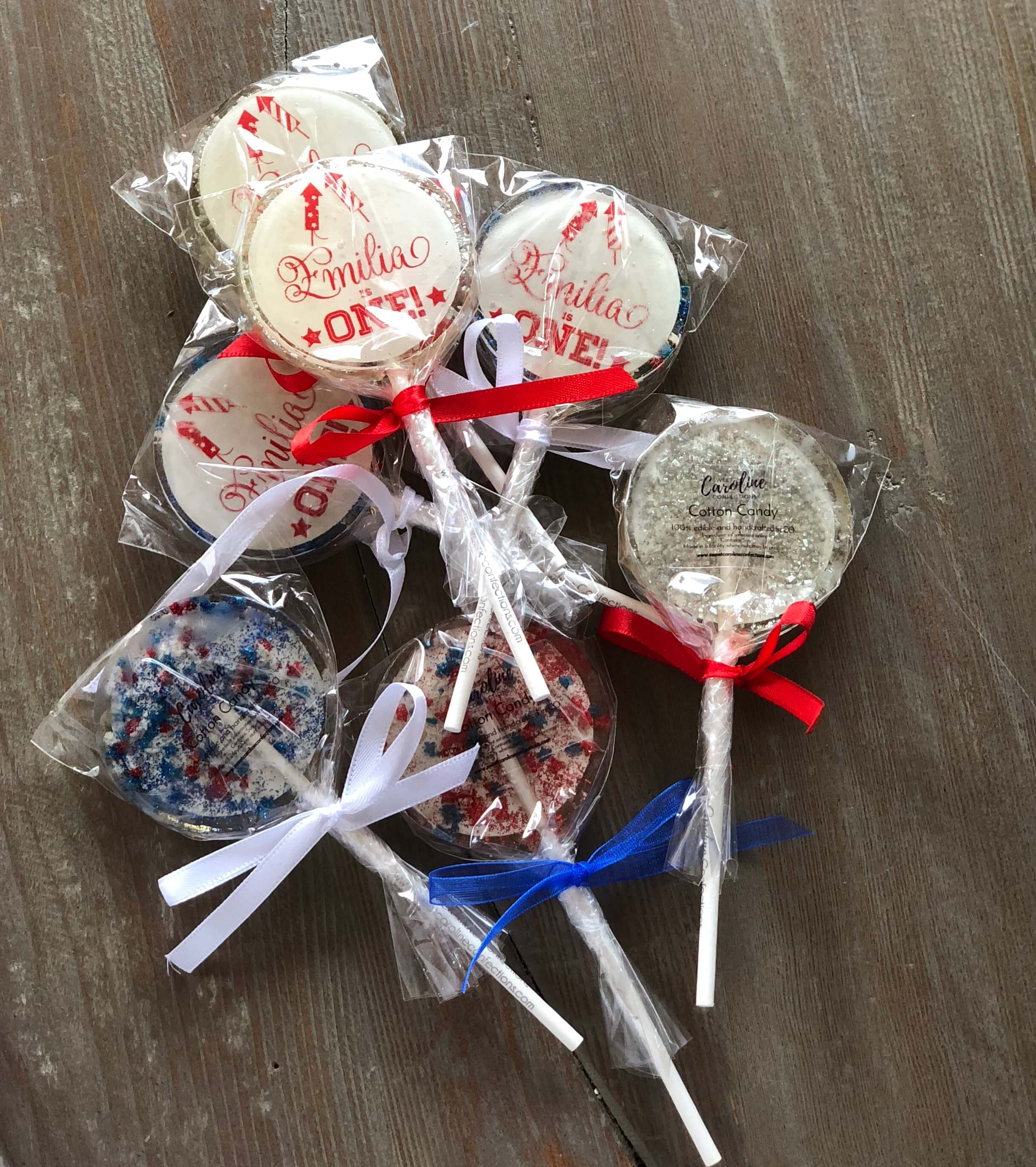 4th of July first birthday cake pops