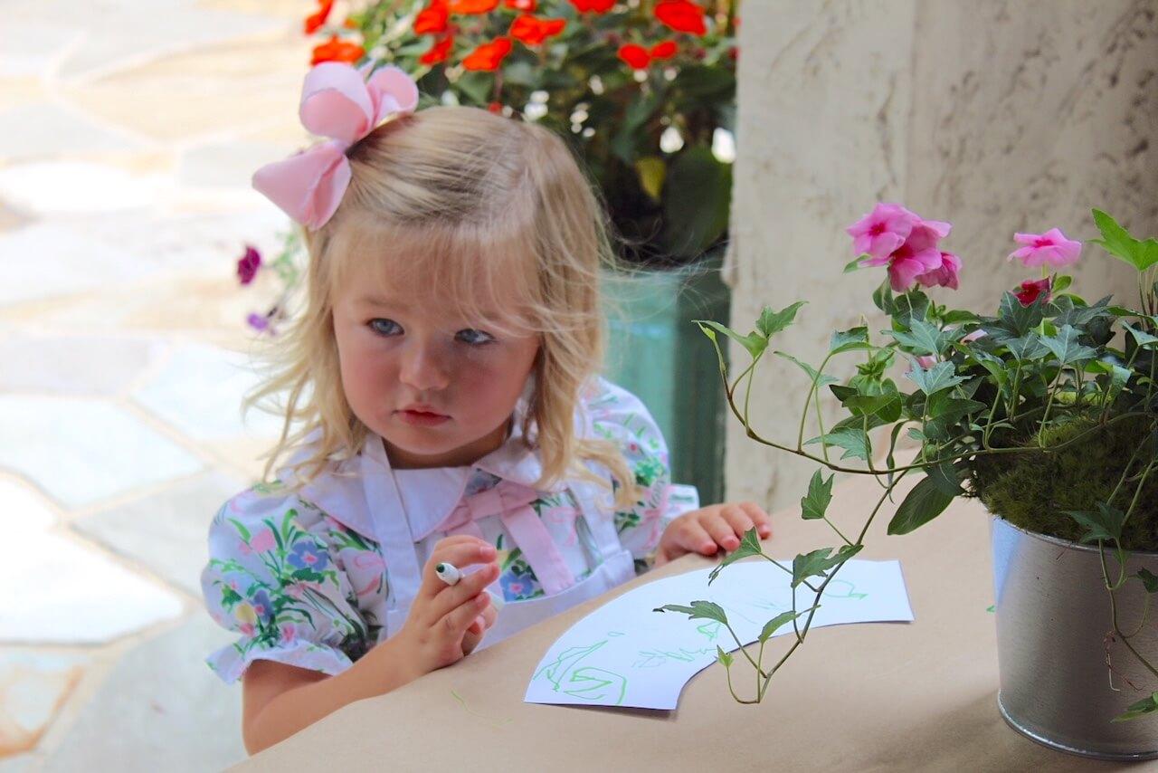 custom coloring sheet flower pot insert