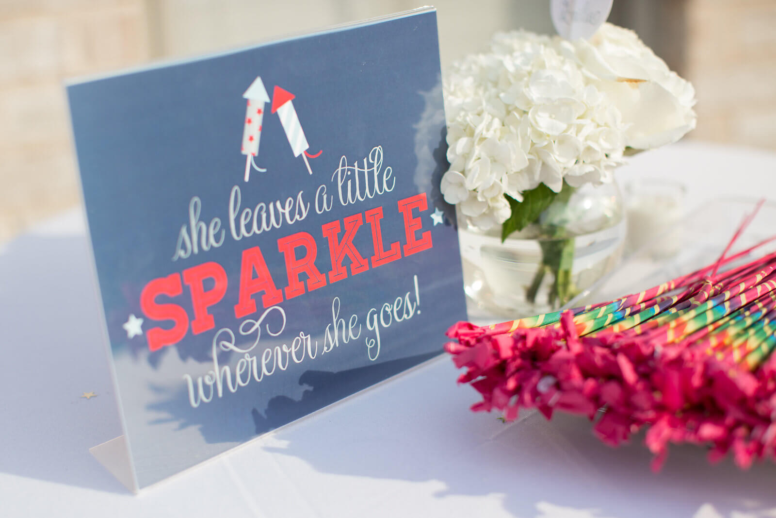 sparkle sign for first birthday
