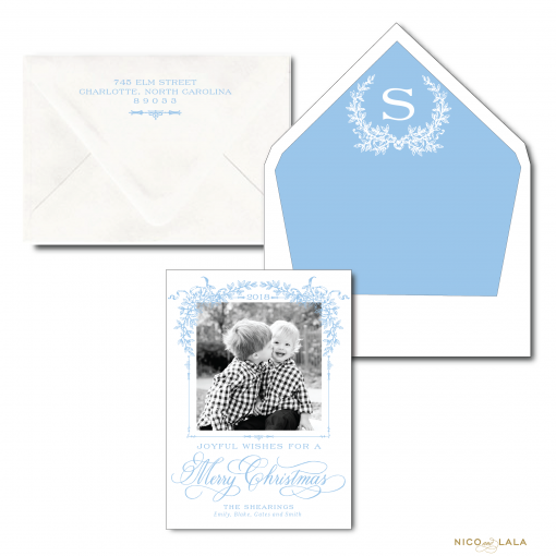 The Southern Christmas Card in Carolina Blue