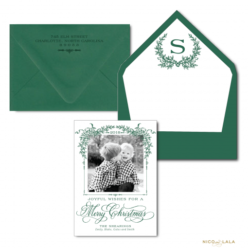The Southern Christmas Card in Forest Green
