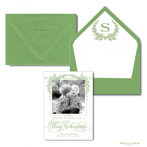 The Southern Christmas Card in Olive Green