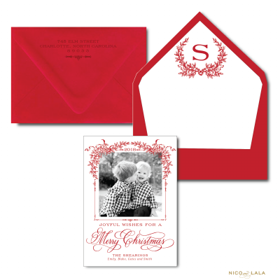 The Southern Christmas Card in Red
