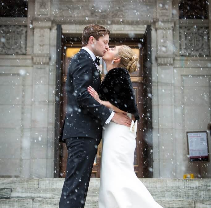 Chic and Snowy New York City Wedding