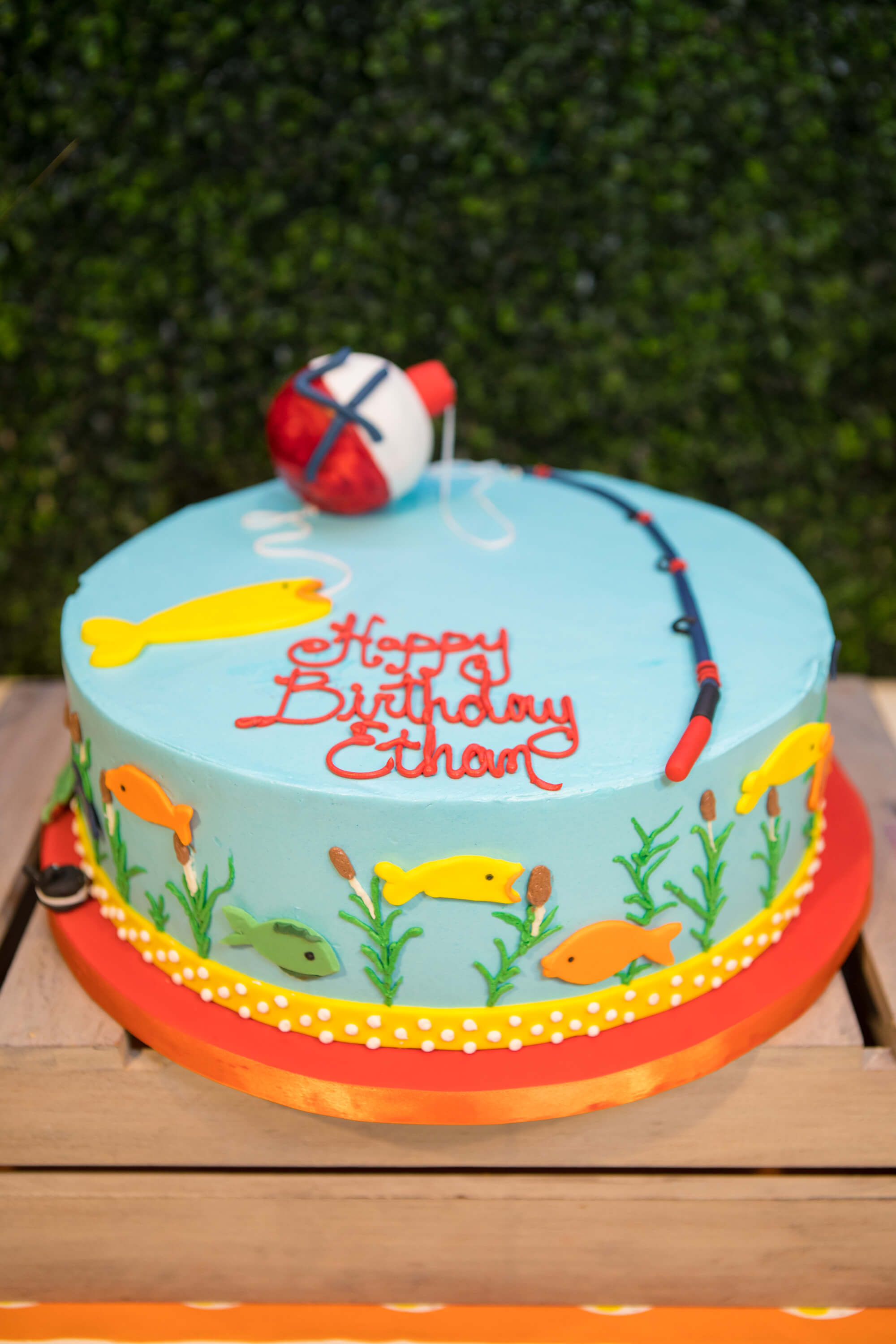 fish themed birthday cake