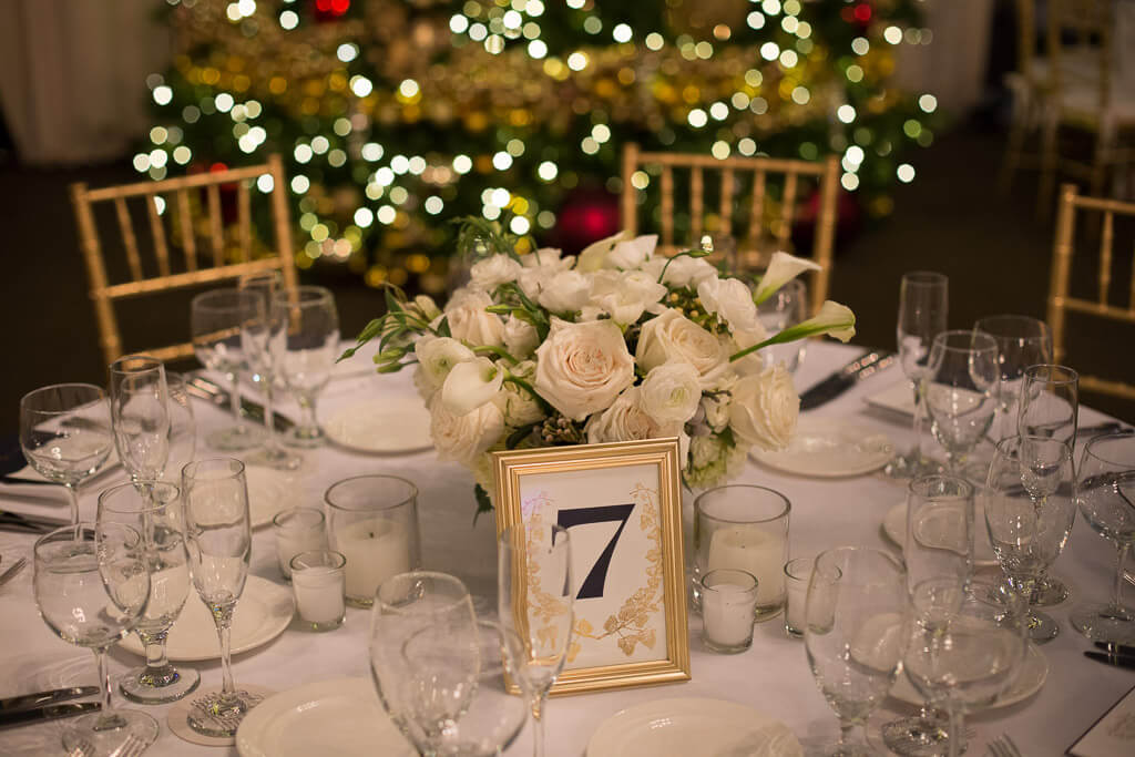 navy and white winter wedding