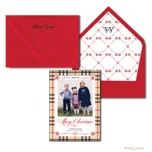 Burberry Plaid Christmas Card