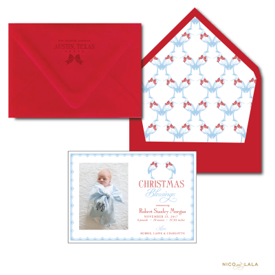 Christmas Stork Birth Announcement