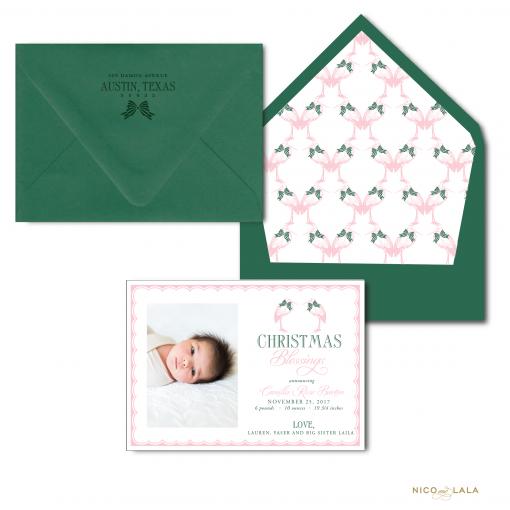 Christmas Stork Birth Announcement