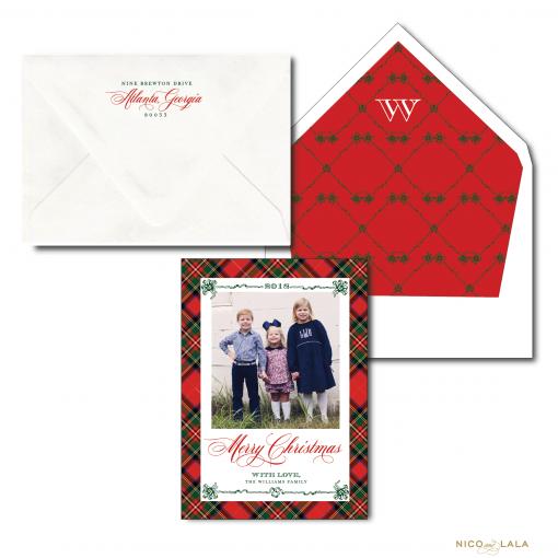 Christmas Red Plaid Christmas Card