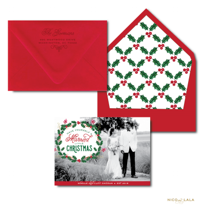 Have yourself a Married Little Christmas Card