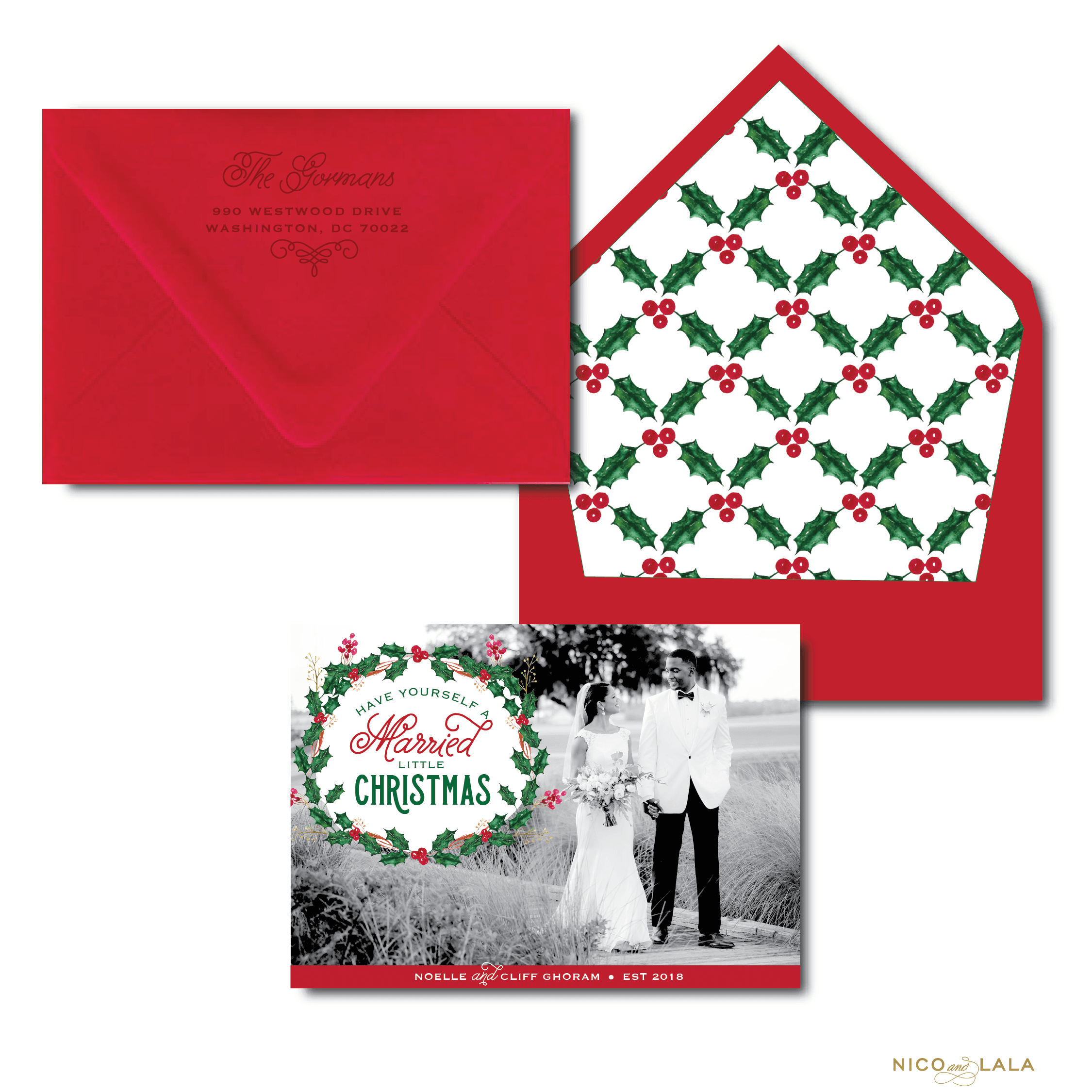 Married Little Christmas Card ⋆ Nico and Lala