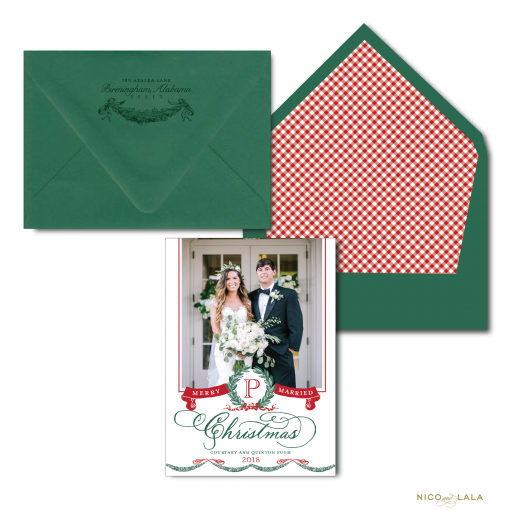 Just Married Christmas Card