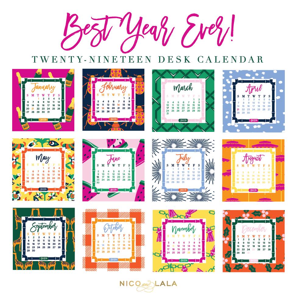 2019 Desk Calendar 2019 Desk Calendar ⋆ Nico and Lala