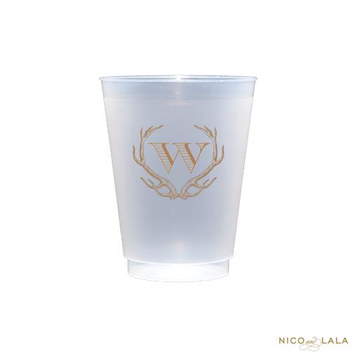 Monogrammed Antler Cups