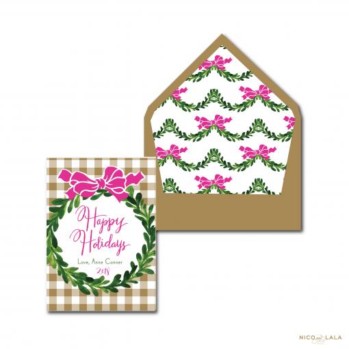 Gingham Christmas Card