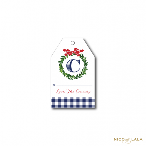 Gingham Christmas Gift Tags
