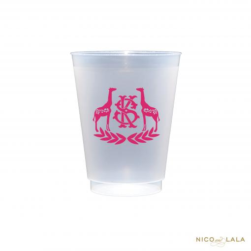 Monogrammed Giraffe Cups