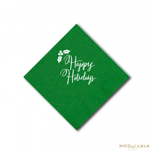 Happy Holidays Napkins